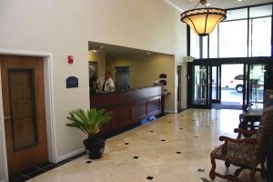The lobby at the Holiday Inn Airport Spokane