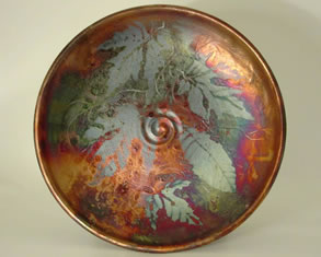 Raku plate by Jill Smith Spokane WA