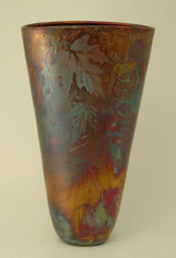 Raku vase by Jill Smith Spokane WA
